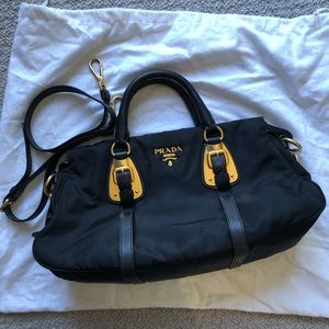 Prada Bauletto Tessuto/Calf Leather crossbody bag